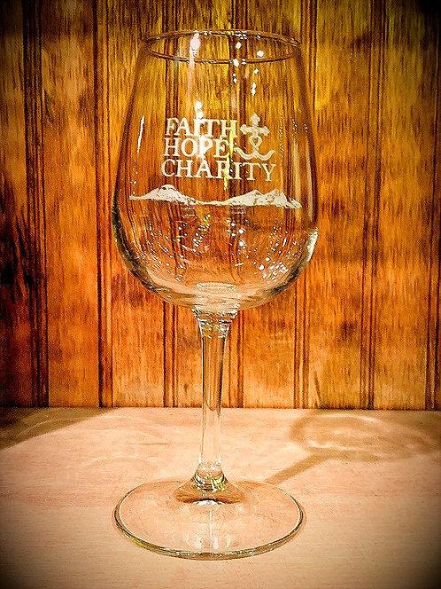 Faith Hope & Charity Event Wine Glass