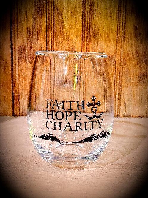 Faith Hope & Charity 3 oz Tasting Glass