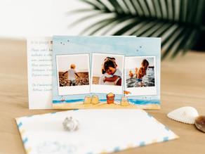 Une carte postale personnalisée avec vos photos