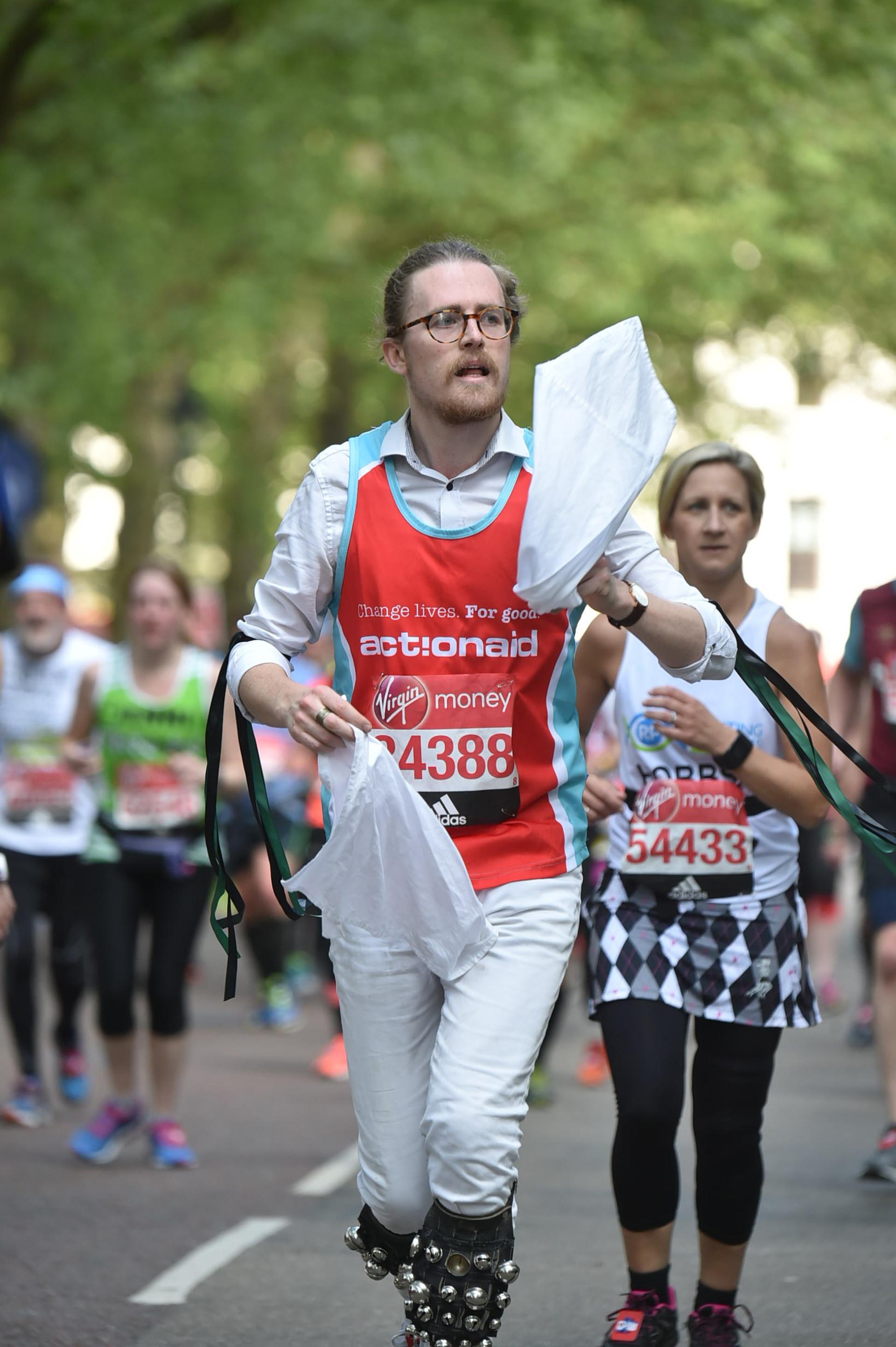 Ben Morris dancing the London Marathon in 2017