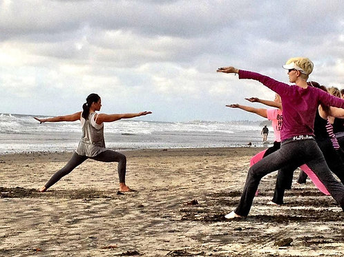 Single Beach Yoga Class