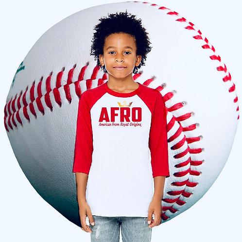 AFRO Youth Slugger Raglan 3/4 Sleeve Sweatshirts