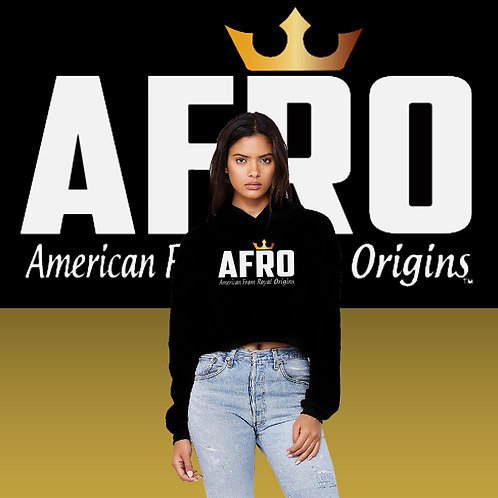 AFRO Royal Maiden Cropped Hoodies