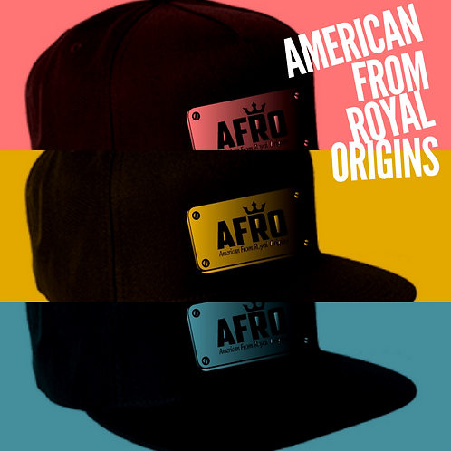 AFRO Royal Plated Flex-Fit Caps