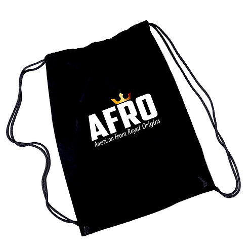 AFRO Canvas Drawstring Tote