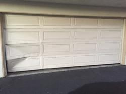 Broken Garage Door Section