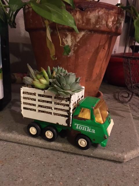 DIY succulent truck