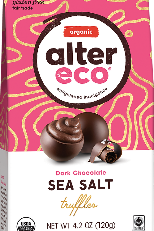 Alter Eco Organic -  Sea Salt Dark Chocolate Truffles