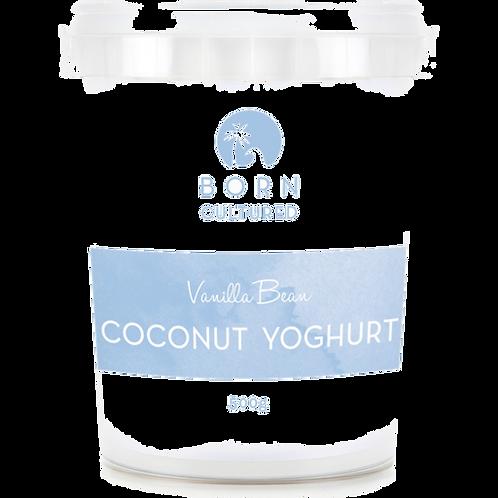 Born Cultured Organic Coconut Yoghurt 500g -Vanilla Bean