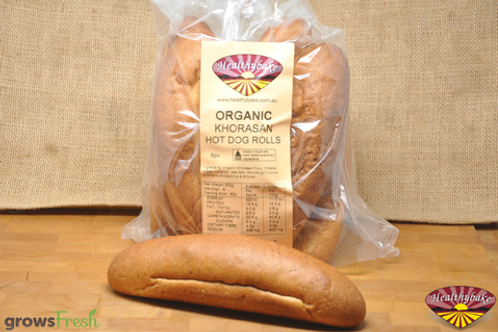 Organic Khorasan / Spelt Hot Dog Rolls 6pk