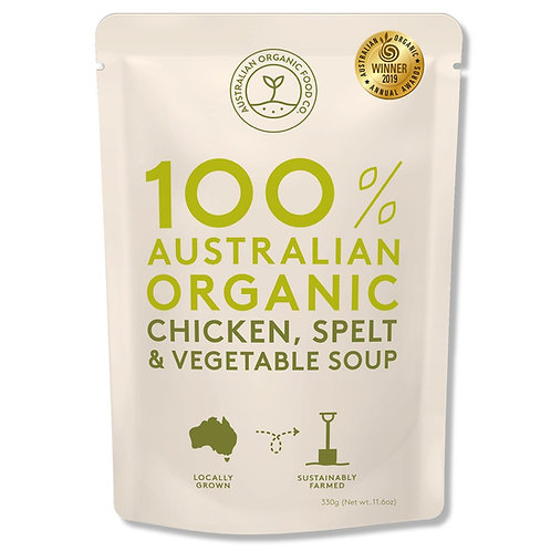 AUSTRALIAN ORGANIC FOOD CO - CHICKEN, SPELT & VEG SOUP