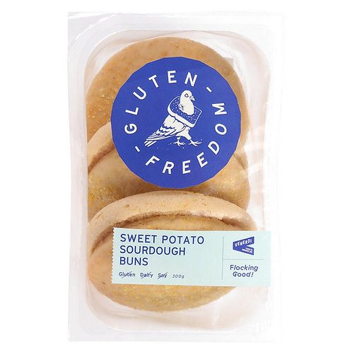 Gluten Freedom- Sweet Potato Sourdough Buns