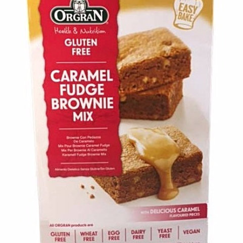 Orgran Gluten Free Caramel Fudge Brownie Mix