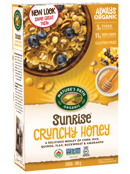 Natures Path Organic Honey'd Cornflakes
