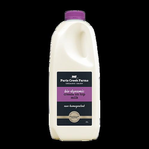 Paris Creek Farms  Biodynamic Milk - 2L