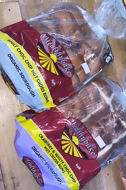Healthy Bake Organic Sourdough - Choc Chip Hot X Buns