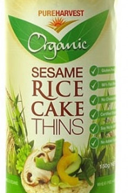Pure Harvest Sesame Rice Thin Cakes