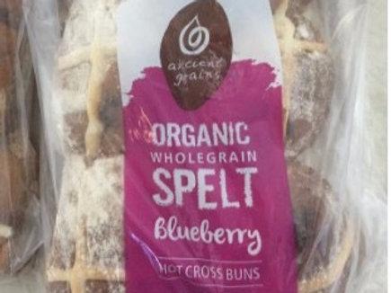 Ancient Grains Organic Hot X Buns - Blueberry