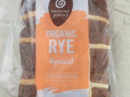 Ancient Grains Organic Hot X Buns - Rye and Apricot