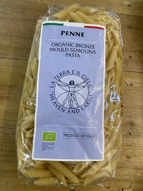 La Terra Organic Semolina Pasta - Penne 500g