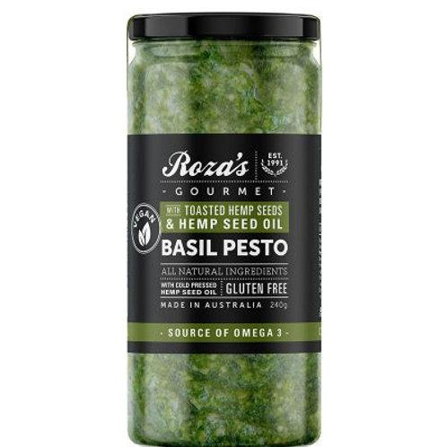 Roza's Gourmet -Basil Pesto with Toasted Hemp Seeds
