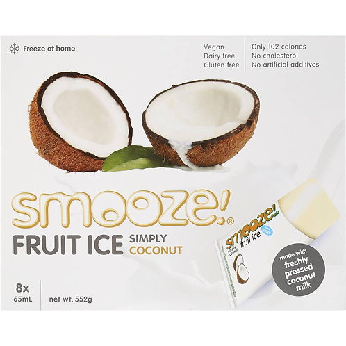 Smooze Fruit Ice -Simply Coconut x8