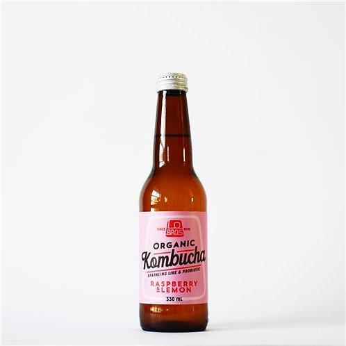 Lo Bros Organic Rasp + Lemon Kombucha