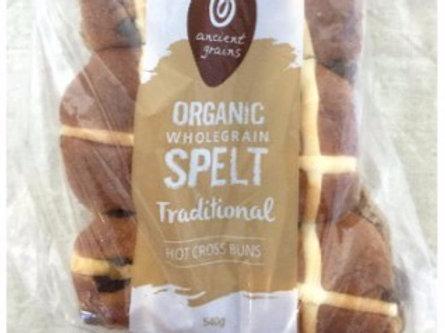 Ancient Grains Organic Hot X Buns -Traditional Fruit