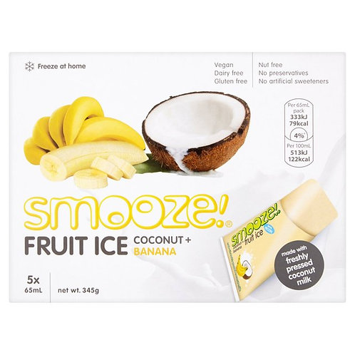 Smooze Fruit Ice - Coconut + Banana x8