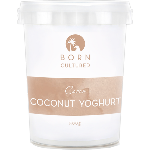 Born Cultured Organic Coconut Yoghurt 500g -Cacao