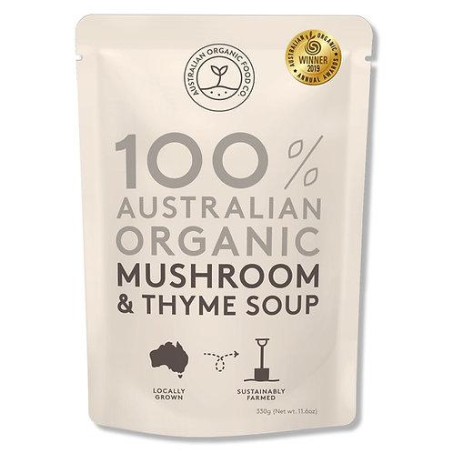 AUSTRALIAN ORGANIC FOOD CO - MUSHROOM & THYME SOUP