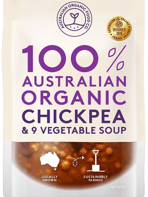AUSTRALIAN ORGANIC FOOD CO - CHICKPEA & VEG SOUP