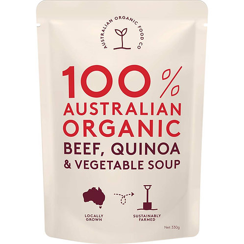 AUSTRALIAN ORGANIC FOOD CO - BEEF,QUINOA & VEG SOUP