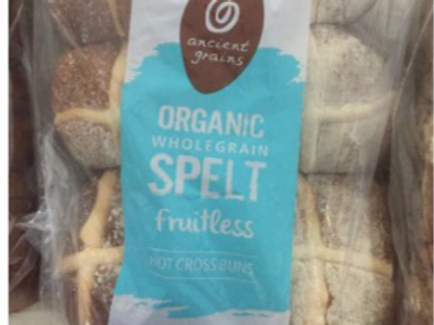 Ancient Grains Organic Hot X Buns - Fruitless