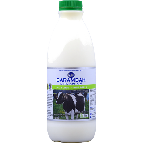 Barambah Organic Lactose Free Milk 1L