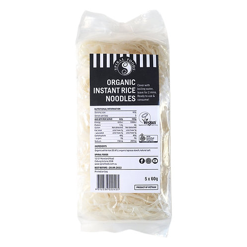 Spiral Foods- Organic Instant Rice Noodles 5 x 60g