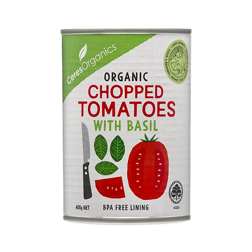 Ceres Organic Chopped Tomatoes with Basil