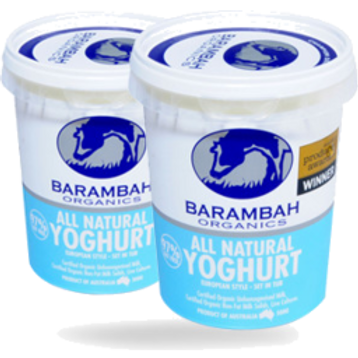 Barambah Organic All Natural Yoghurt 500g