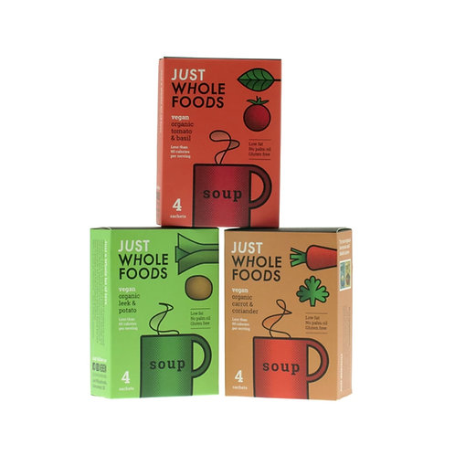 Just Wholefoods Organic Soup - 4 Sachets