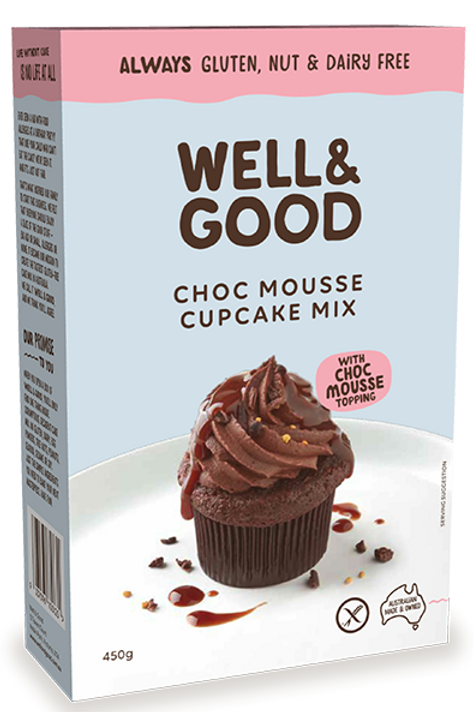 Well & Good Choc Mousse Cupcake Mix