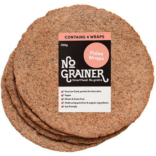 No Grainer- Paleo Wraps x4