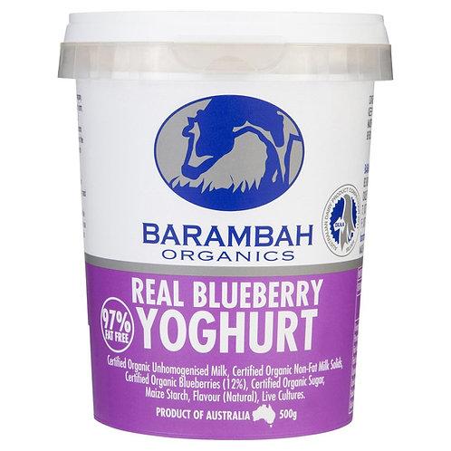 Barambah Organic Real Blueberry Yoghurt 500g