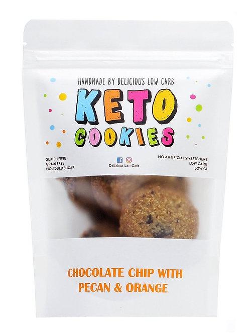 Keto Cookies - Chocolate Chip with Pecan & Orange