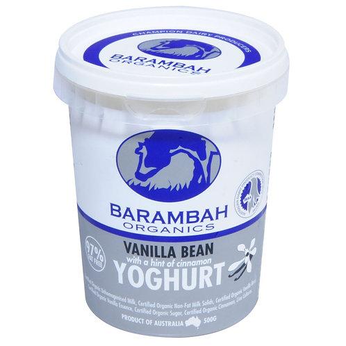 Barambah Organic Vanilla Bean Yoghurt 500g