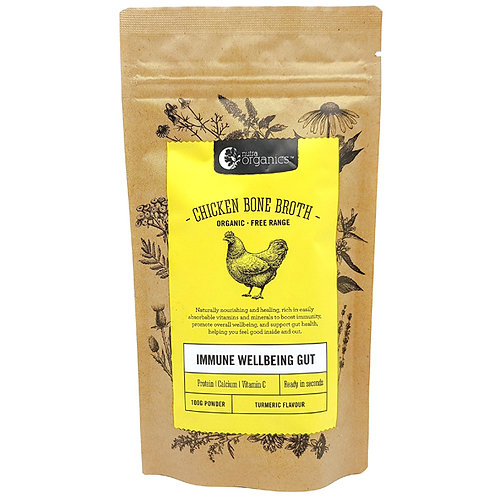 Nutra Organics Chicken Broth - Tumeric Flavour