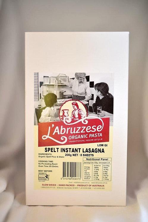 Organic L'Abruzzese Spelt Instant Lasagna