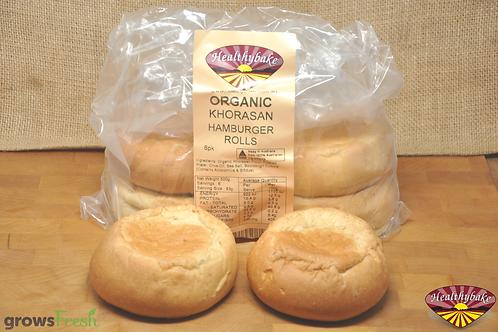 Organic Spelt / Khorasan Hamburger Rolls 6pk