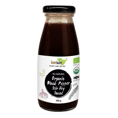 Lum Lum- Organic Black Pepper Stir Fry Sauce 200g