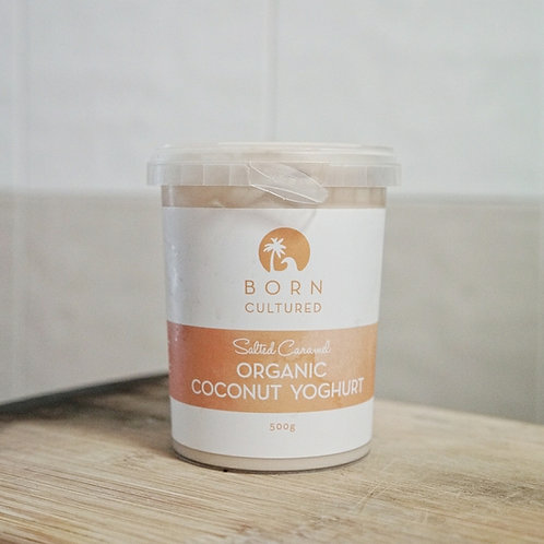 Born Cultured Organic Coconut Yoghurt 500g -Salted Caramel
