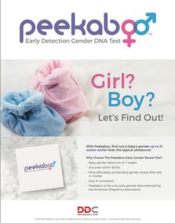 Peekaboo Gender DNA test kit